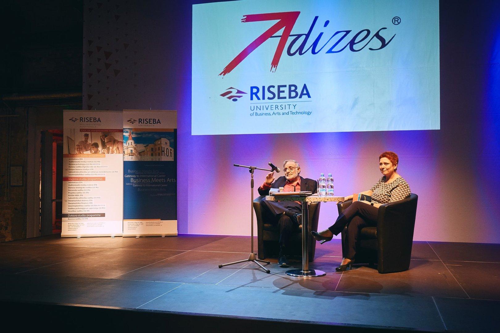 Dr  Ichak Adizes visits RISEBA and signs a cooperation