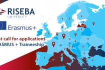 CALL FOR APPLICATIONS: ERASMUS + TRAINEESHIP